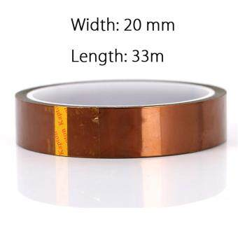 Heat Insulation Resistant High Temperature Polyimide AdhesiveSticker Tape 20mm x 33m 108ft