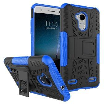 Heavy Duty Armor Case For ZTE Blade V7 Lite Dual Layer ShockproofKickstand Protective Cover Blue