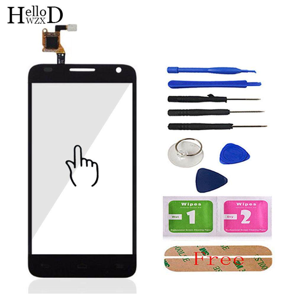 HelloWZXD 4.3'' For Alcatel One Touch Idol 2 Mini S OT6036 6036 Front Touch Screen Glass Digitizer Panel Sensor Flex Cable Tools Free Adhesive - intl