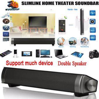 HIFI Box Subwoofer Wireless Bluetooth 3.0 Hands-free Music Speaker TV Home Theater Soundbar Portable