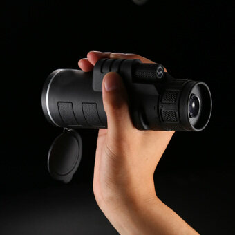 High-powered HD 35x50 Wide-angle Monoculars Telescope with HandStrap Black
