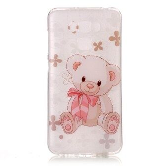 High Quality Toy Bear TPU Soft Gasbag Back Case Cover For AsusZenfone 3 Max ZC553KL Case