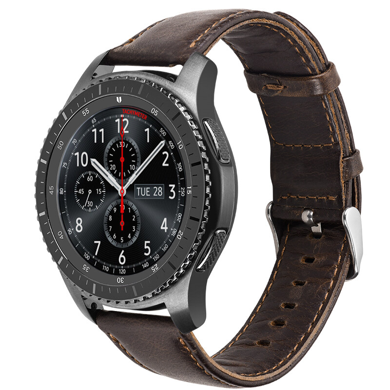 HOCO Duke Genuine Leather Strap for Galaxy Gear S3 Frontier Band Bracelet for Gear S3 Classic Wristband 22MM - intl
