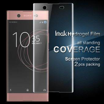 IMAK 2 Pcs Packing Full Screen Complete Covering Soft Hydrogel Protector Film for Sony Xperia XA1 Ultra