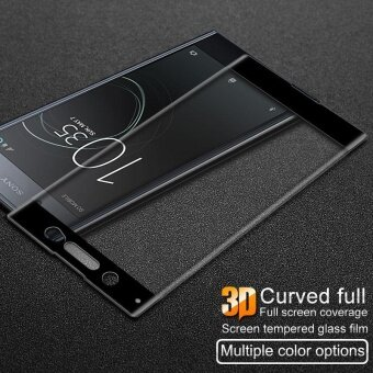 IMAK 3D Curved Full Size Tempered Glass Protector Film for SonyXperia XA1 Ultra - Black
