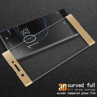 IMAK 3D Curved Full Size Tempered Glass Screen Guard for SonyXperia XA1 - Gold