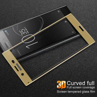 IMAK Full Size 3D Curved Tempered Glass Screen Protector Guard Filmfor Sony Xperia XZ Premium - Gold
