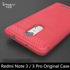 IPAKY CARBON FIBER SHOCKPROOF HYBRID BACK CASE FOR XIAOMI REDMI 3 PRO 3S .