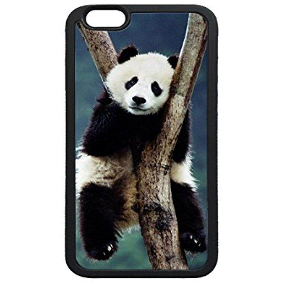 iPhone 5s SE Case,China Panda in Tree TPU Soft Black Rubber Bumper Protective Case for iPhone 5 5S SE - intl