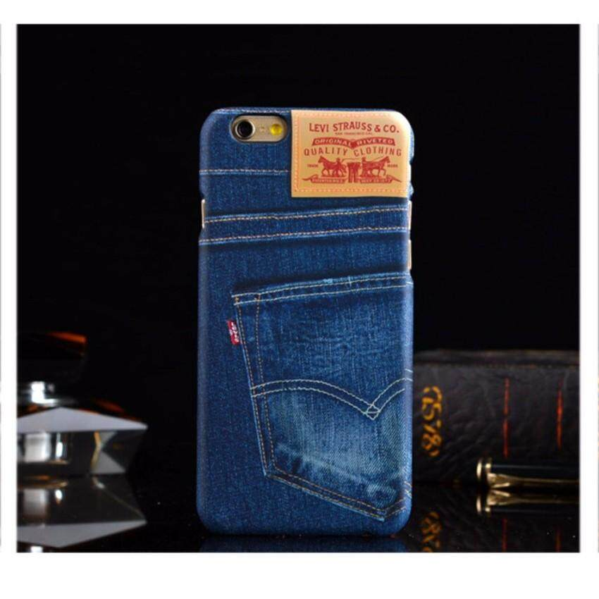 Iphone6 Iphone6S cover case casing Levis Jeans [Blue]   - intl