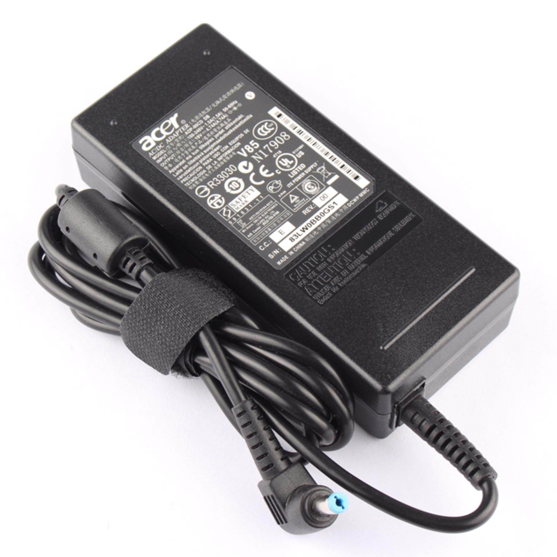 Laptop AC Adapter Charger for ADP-90CD BDH ADP-90CD DB ADP-90RH B ADP-90SB BB Aspire 1202X E1-432P K40-10 K50-10 K50-20 MM1-571 V3-575TG, Aspire 1 A114-31-C4ZV 3 A314-31-C1ZV 5 A515-41G-16BQ, One 14 Z1401 (Black) 19V 4.74A (90W) 5.5*1.7mm - intl