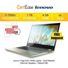Lenovo Yoga 520-14IKB Laptop - i7-7500U W10 14 FHD Touch 4GB 1TB (Harman Speaker + Backlit KB) Malaysia