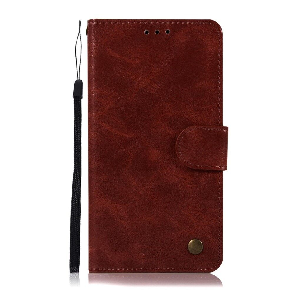 LG K10 Wallet Case, Kunpon Classic Series Ultra Thin Slim Fit Premium PU Leather Flip Folio Case with ID Credit Card Slot, Cash Clip, Stand Holder Soft TPU Shockproof Interior Protective Shell Cover Case for LG K10 - Wine Red - intl