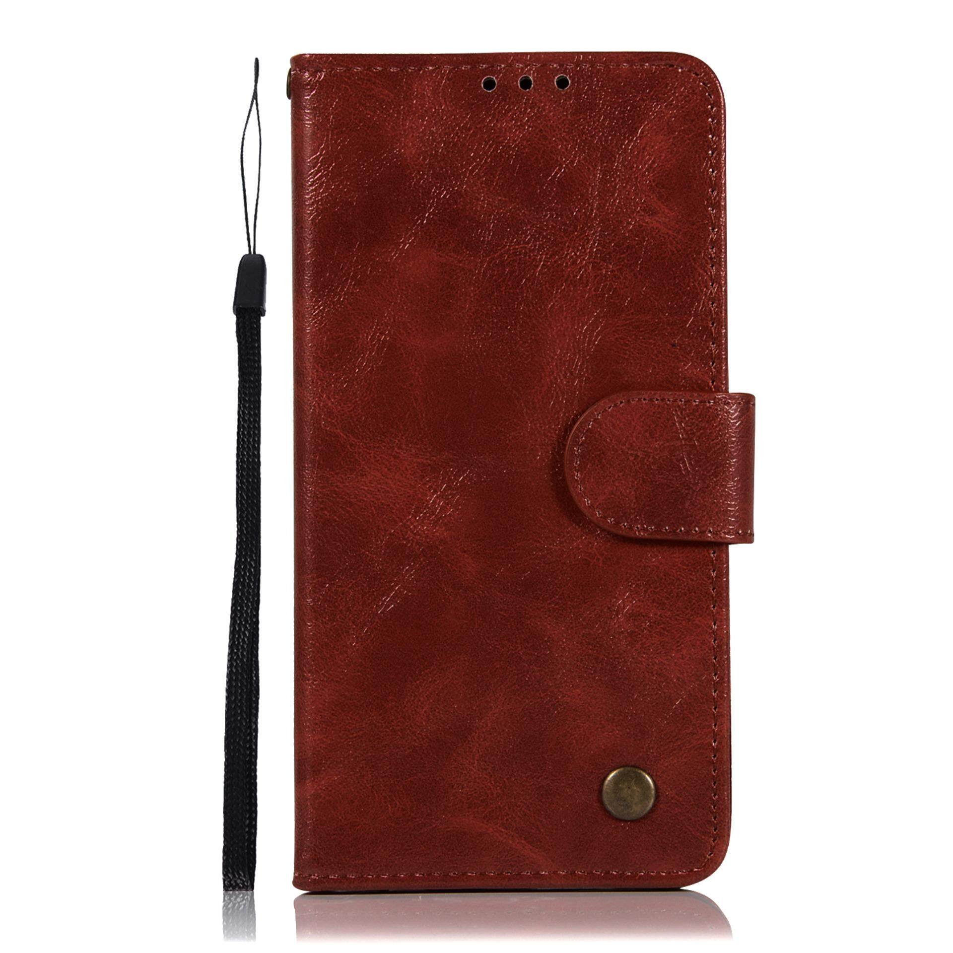 LG X Power Wallet Case, Kunpon Classic Series Ultra Thin Slim Fit Premium PU Leather Flip Folio Case with ID Credit Card Slot, Cash Clip, Stand Holder Soft TPU Shockproof Interior Protective Shell Cover Case for LG X Power - Wine Red - intl