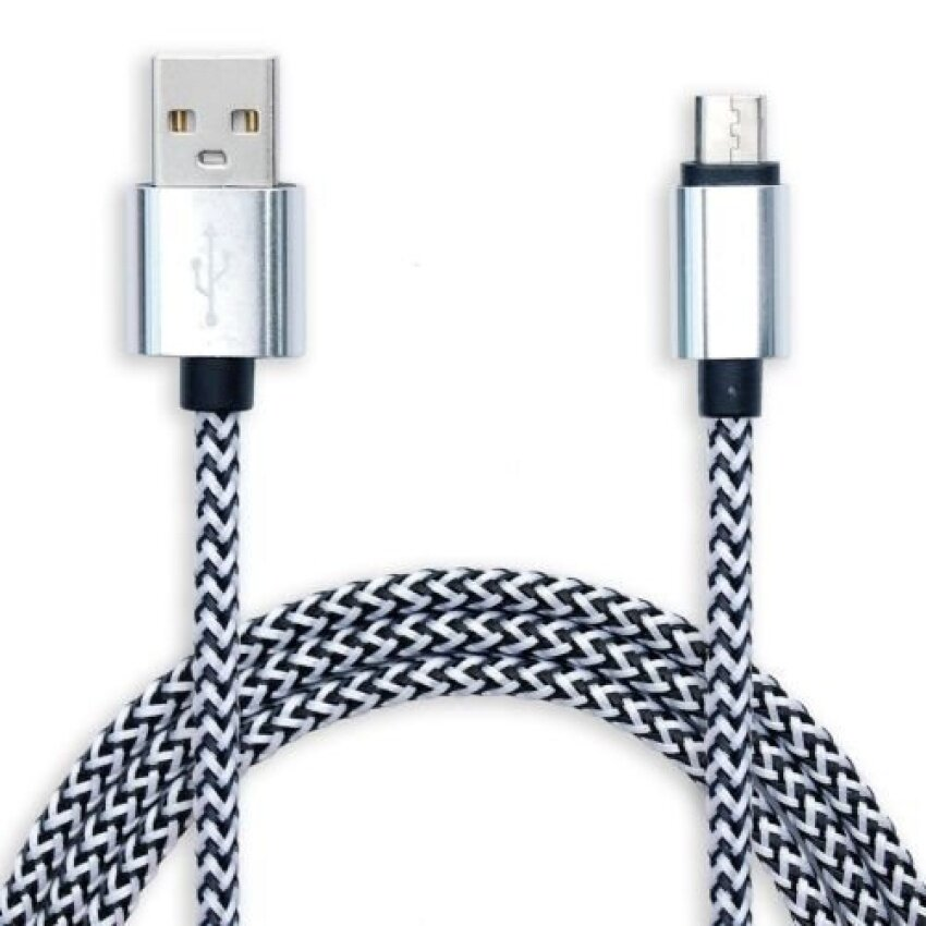 Long 3m Micro USB Cable Data Charger Lead for HTC M8 M9 SamsungSony LG ZTE Zopo (Silver) HOT TEKE 96 - intl
