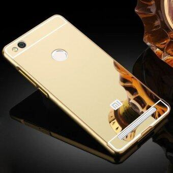 Luxury Aluminum Metal Hybrid Case Hard Mirror Protective Cover ForXiaomi Redmi 3 Pro 3s Red Mi 3s - Gold