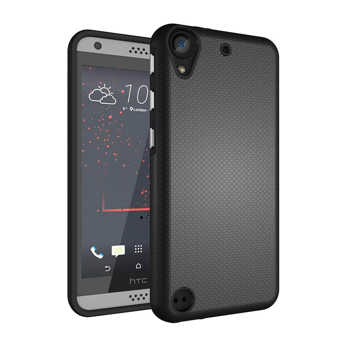 Meishengkai Case For HTC Desire 530 Anti Slip And Shatter Proof Hard PC + TPU 2 in 1 Protective Case Cover Black - intl