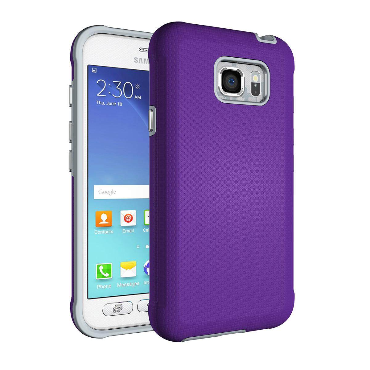 Meishengkai Case For Samsung Galaxy S7 Active Anti Slip And Shatter Proof Hard PC + TPU 2 in 1 Protective Case Cover Purple