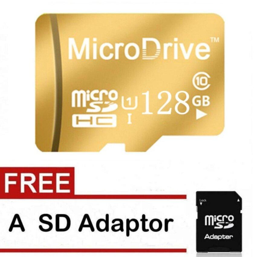 Mikro Memori SD/TF Kartu Calss 10 128 GB (Emas)-Internasional