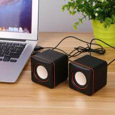 Mini Portable Square Wired USB Audio Music Player Speaker MP3 Laptop PC Malaysia