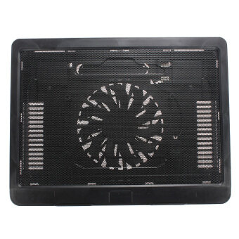 New Thin USB Laptop Notebook Cooler Pad Mat Stand with 140mm LEDCooling Fan Black