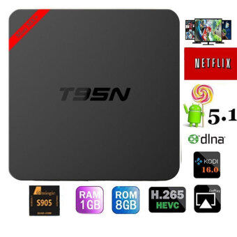 niceEshop T95N Android Tv Box MINI Amlogic S905 Quad Core Android Media Player 5.1 1GB/8GB Wifi Kodi 16.0 Fully Loaded HD 4K Smart TV Box