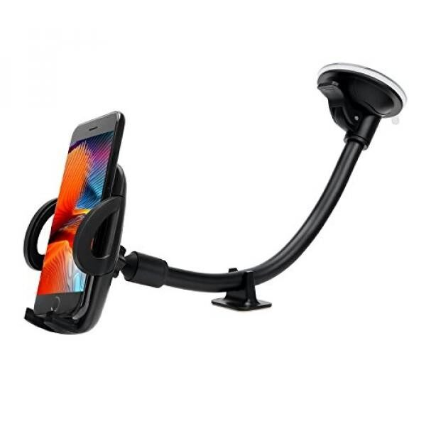 NOPNOG Car Mount Cell Phone Holder for Windshield Universal Long Arm Car Mount One Button for iPhone X/ 8/ 8Plus/7 Samsung Galaxy S7/ S8 Moto LG Google Pixel XL/ Nexus 6P HTC - intl