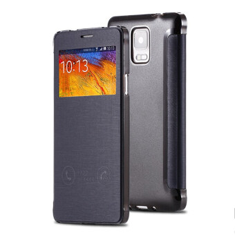 Note 4 High Quality Ultra Flip View Window Leather Phone Case For Samsung Galaxy Note 4