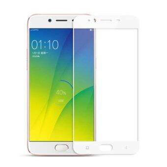 OPPO R9S Full Covered High Quality Tempered Glass Screen Protector-WHITE