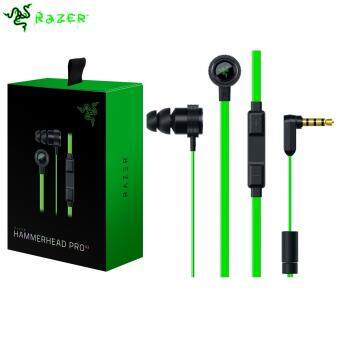 Original Razer Hammerhead Pro V2 - Flat Style Cables with Omnidirectional Microphone and Volume Controls