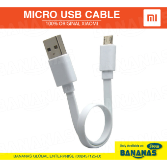 Original Xiaomi Micro USB 2A Fast Charging Quick Charger Data Cable (20cm)
