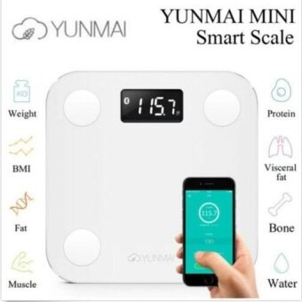Original YUNMAI MINI Smart Weighing Scale Support Android 4.3iOS7.0Bluetooth4.0 Losing Weight Digital Scale Body Fat Scale(Whit