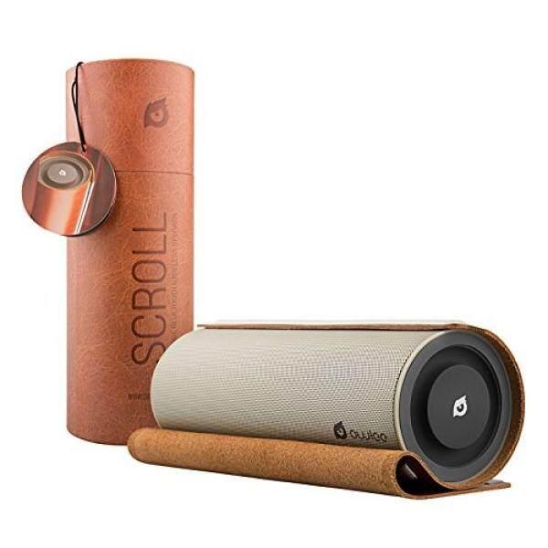 Owlee Scroll Vintage Leather Wireless Bluetooth Speaker, 20 W, 2 Driver Yang Kuat, 2 Kuat Woofer, BASS Yang DALAM, Hands-Free Calling, 3D Suara, NFC, 9 + Jam Waktu Bermain, untuk IPHONE, IPAD, SAMSUNG TELEPON,-Intl