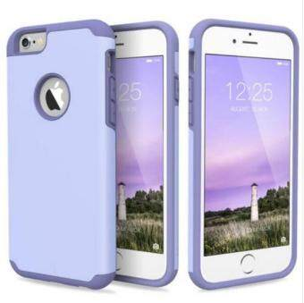 Phone Case for Apple iPhone 6 plus 6s Plus 2 in 1 Soft SiliconeRubber Hard Plastic Back Cover i6 Cases For Men Women(Lavender)