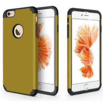 Phone Case for Apple iPhone 6 plus 6s Plus 2 in 1 Soft SiliconeRubber Hard Plastic Back Cover i6 Cases For Men Women(Tan)