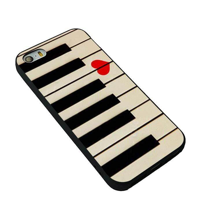Piano keyboards love valentines music gift idea phone case for iPhone 5 5s SE - intl