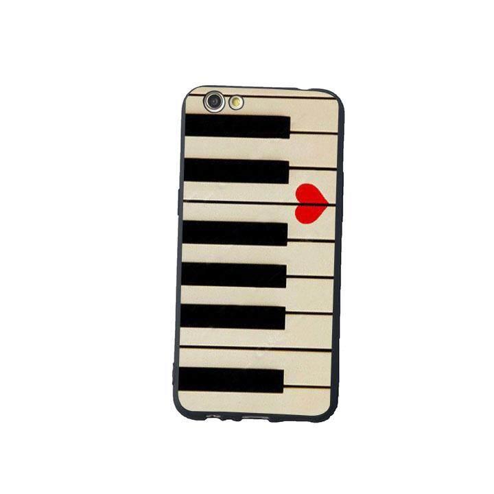 Keyboard Piano CINTA Valentines Ide Hadiah Musik Telepon Kasus Lembut Sampul Belakang untuk OPPO R9s-Internasional