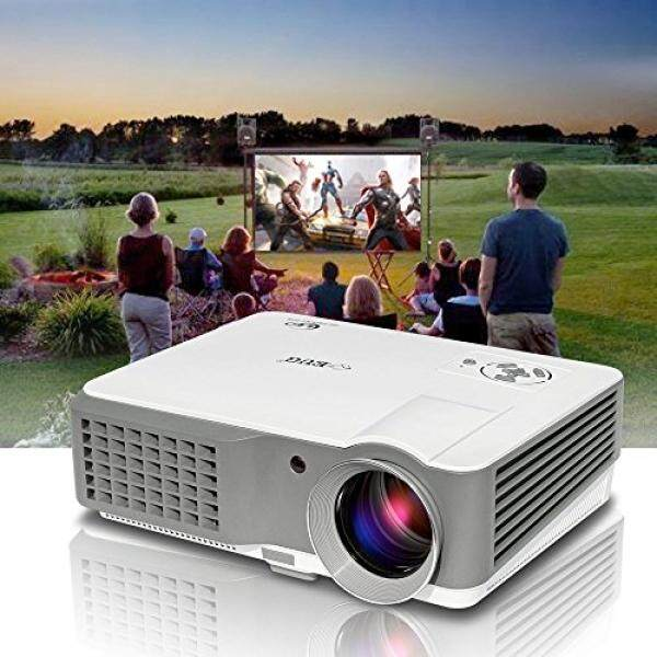 Portable LCD LED Video Projector, HDMI 1080p HD Support, 2500 Lumen Outdoor Indoor Movie Projector with Speaker for Home Cinema Theatre,Entertainemt, Karaoke, Art Work Projection- 50,000hrs Lamp-life - intl