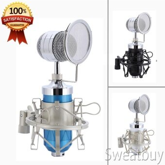 Professional Audio Condenser Microphone with Shock Mount Blue