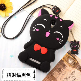Redmi note2 phone shell silicone Redmi note2 phone sets lanyardcartoon anti-drop resistance protective sleeve soft shell female