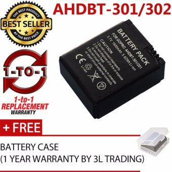 (REPLACEMENT) AHDBT-301 AHDBT-302 Battery for GoPro Hero 3 Hero 3+Black Silver Edition