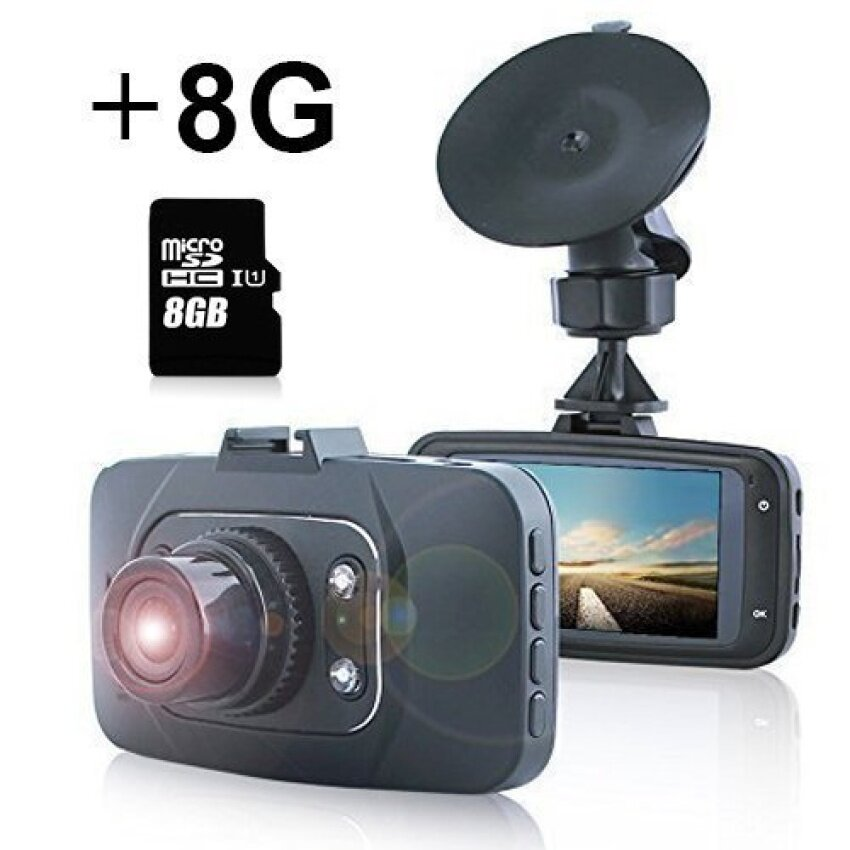 RHK DVR Recorder GS8000 Full HD 1080P Car DVR Include 8GB Card 2.7120 Degree HDMI Camcorder Vehicle Camera with Night Vision &Motion Detection G-Sensor Dash Cam Supporting Up to 32 GB -Black - intl