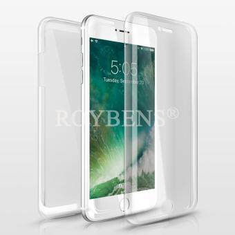 Roybens 360? Full Body Protect Soft Silicone Case Front + BackCover For Apple iPhone 7 Plus Clear