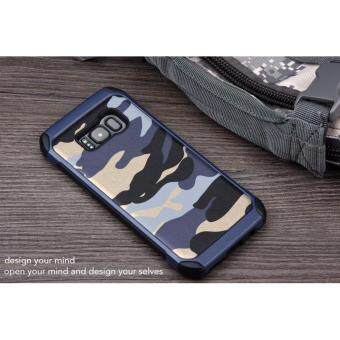 Samsung Galaxy S8 Plus Army Armor Camo Case Cover Casing (Blue)