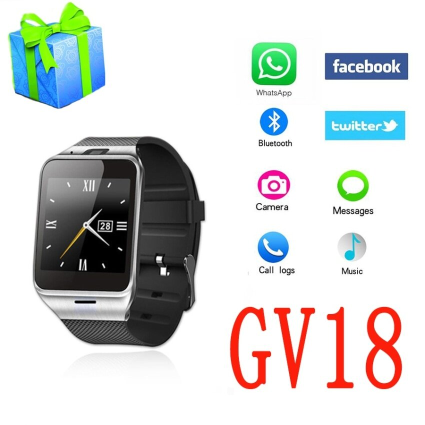 Smart Watch Gv18 Aplus Digital U8 Wrist Clock SIM Card BluetoothWaterproof Smartwatch For Android IOS Apple phone PK Dz09 A1 u8watch - intl