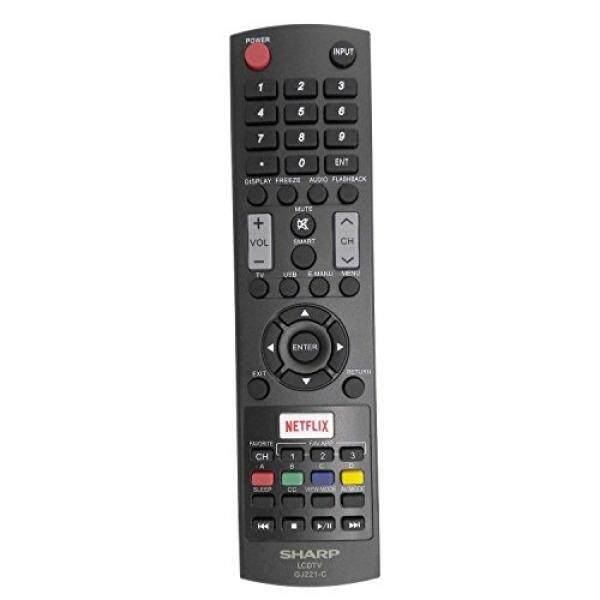 Smartby New Sharp GJ221-C Remote Control work for Sharp LED HDTV LC-32LE653U LC-40LE653U LC-43LE653U LC-48LE653U LC-55LE653U LC-65LE645U LC-65LE653U LC-65LE654U - intl