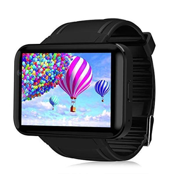 Smartwatch Phone, 2.2 inch Touch Screen 3G MTK6572 Dual Core 1.2GHz 4GB ROM Camera Bluetooth Watch Phone for Android Samsung HTC Sony LG HUAWEI (Black) - intl