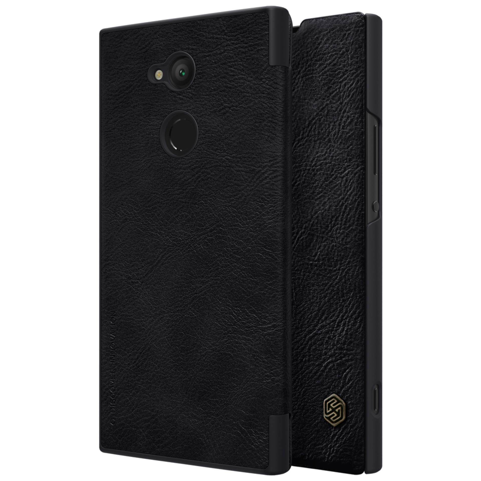 Sony Xperia XA2 Ultra Case Nillkin Qin Customized Ultra Thin Inside Card Slot Flip Up Leather Case Protective Shell Cover for Sony Xperia XA2 Ultra (Black) - intl