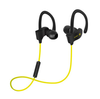 Sports In-Ear Wireless Bluetooth Earphone Stereo Earbuds HeadsetBass Earphones with Mic for iPhone 6 Samsung Phone(Yellow)
