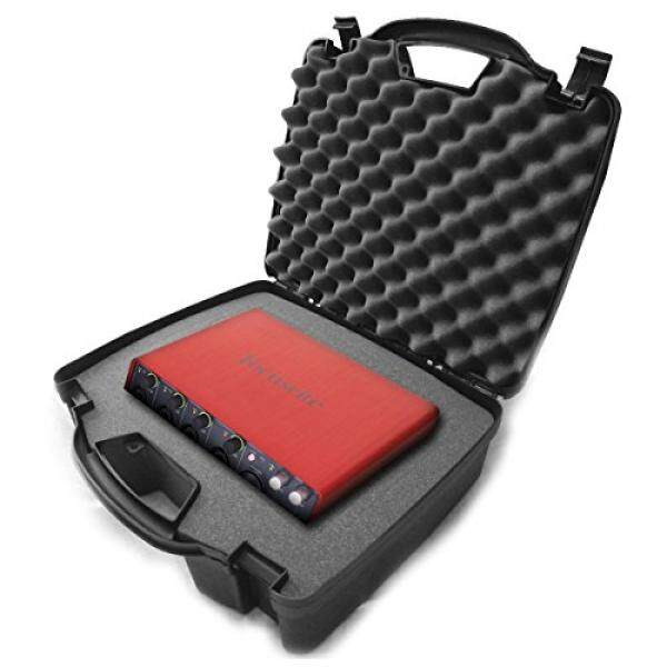 STUDIOCASE Protective Carrying Travel Hard Case dengan Busa Padat-cocok Studio USB Desktop Stereo Perekam FOCUSRITE Scarlett 2i2, 6i6, 2i4, 18i8, Solo Compact USB Antarmuka Audio dan Mixer Rekaman Aksesoris-Intl